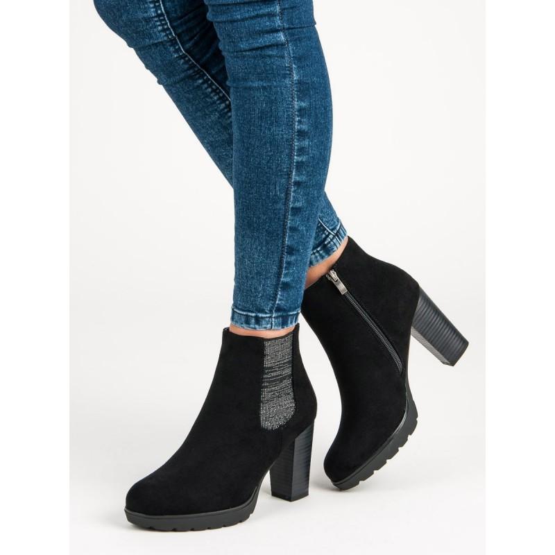 35643961ec91 Semišové dámske topánky na opätku