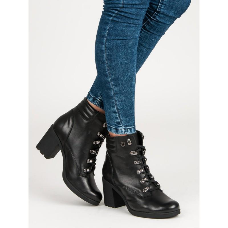 07552132c77d Dámske šnurovacie topánky čierne