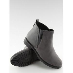 Členková obuv sivá
