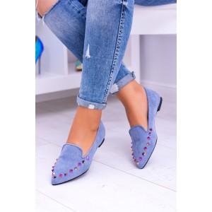 Trendy mokasíny modrej farby