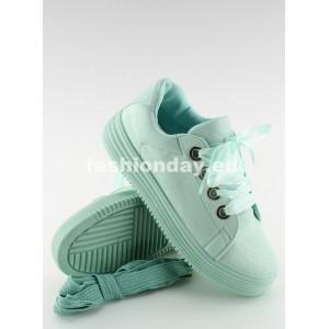 Dámske botasky v mentolovej farbe