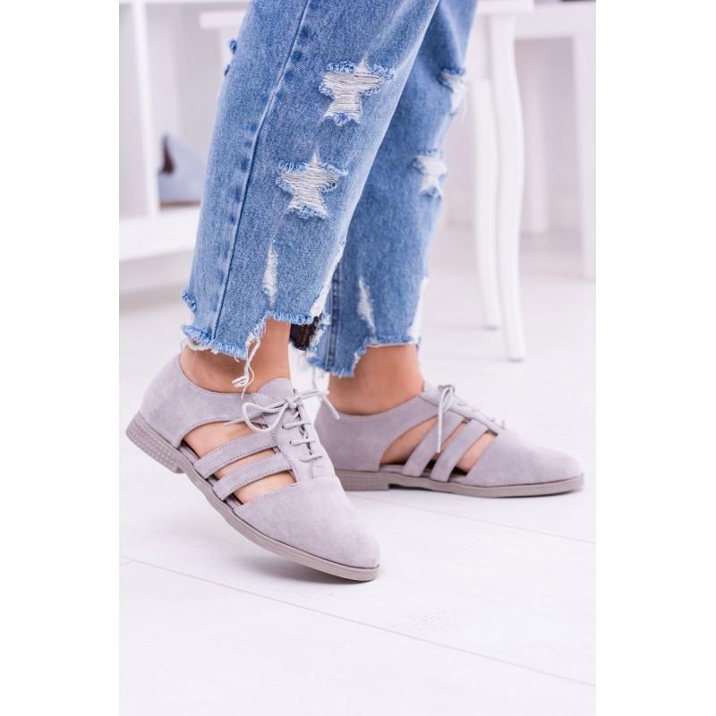 Dámske jarné topánky sivé f0ed9795967
