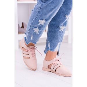 Dámske jarné topánky ružové