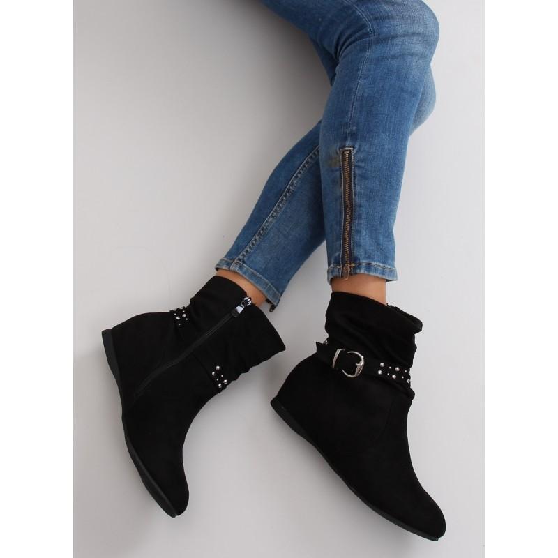 6286156e0c Kotníkové topánky na platforme čierne