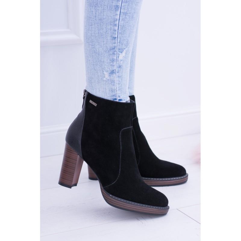 Členková obuv na platforme čierna 80ad425e055