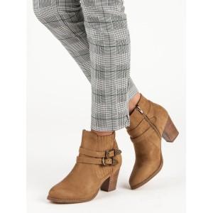 Topánky platforma hnedé