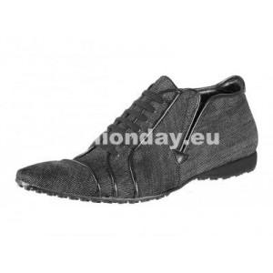 Pánske kožené športové topánky šedé