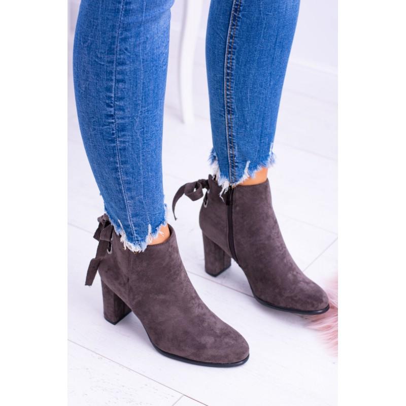 Dámske zimné topánky hnedej farby 5c2ad141389