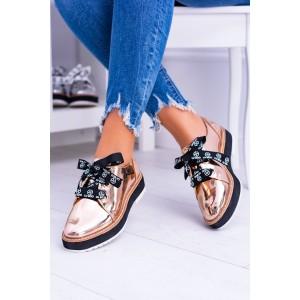 Jesenná obuv dámska zlatej farby