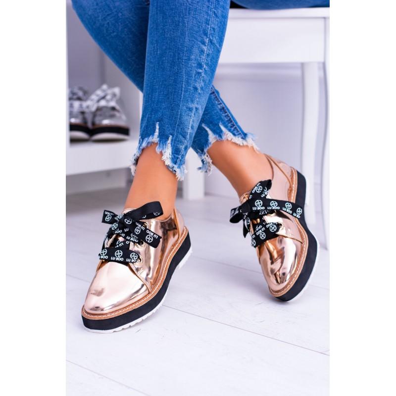 Jesenná obuv dámska zlatej farby 8296659a19a