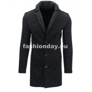 Pánsky kabát v sivej farbe