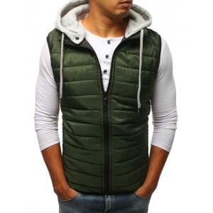 Pánske vesty bez rukávov zelenej farby