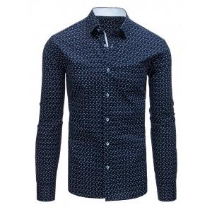 Štylové pánske košele modrej farby