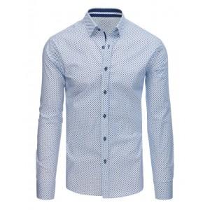 Pánska bodkovaná košeľa bielej farby