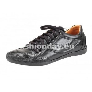 Pánske kožené športové topánky čierné