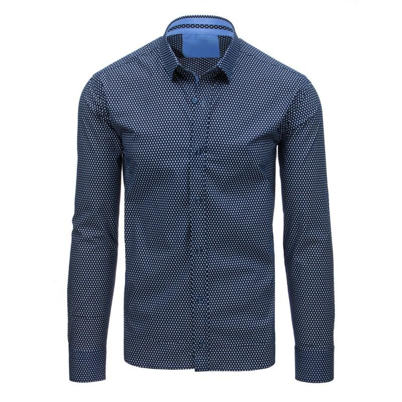26b4c4b31e4c Pánske košele k obleku modrej farby