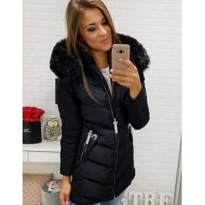 Dlhé zimné bundy v čiernej farbe
