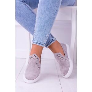 Letná obuv sivej farby
