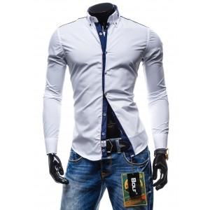 Štýlová pánska slim fit košeľa bielej farby