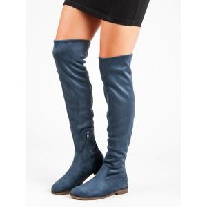 Vysoké čižmy nad kolená modré