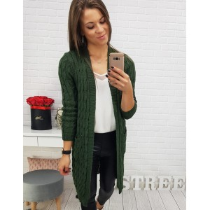 Dlhý sveter v zelenej farbe