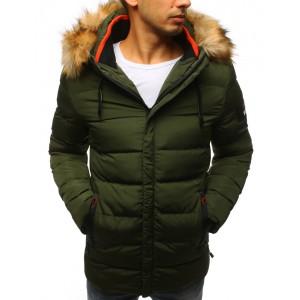 Pánska zimná prešivaná bunda zelená