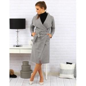 Dámske kabáty v sivej farbe