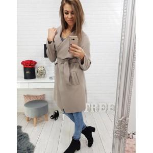 Štýlové kabáty dámske v béžovej farbe
