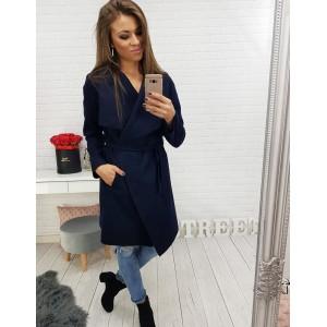 Elegantné kabáty dámske modré