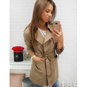 Krátky kabát v béžovej farbe