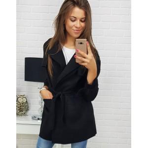Čierny kabát pre dámy