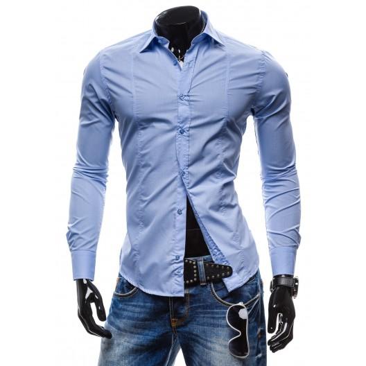 Luxusná pánska košeľa slim fit svetlo-modrej farby
