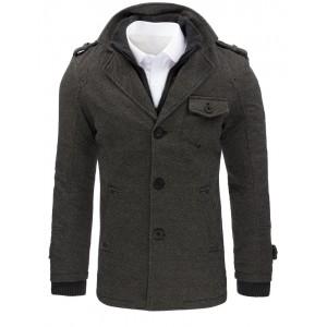 Kabát na zimu zatelpený v sivej farbe