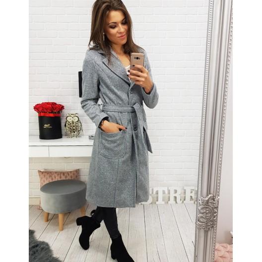 Dámske kabáty a bundy v sivej farbe