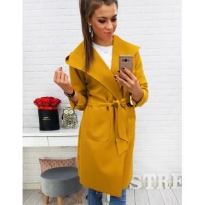Dlhé kabáty žlté