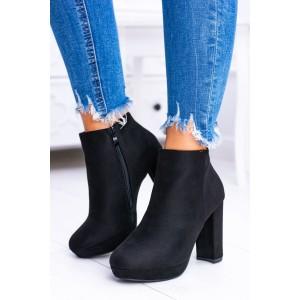 Členkové topánky na hrubom opätku