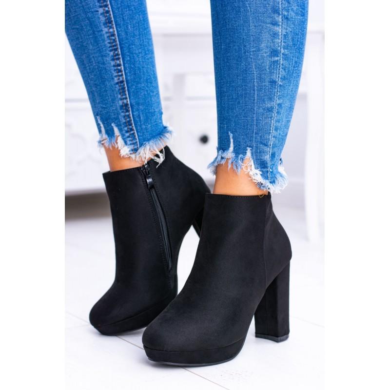 00880af9230f Členkové topánky na hrubom opätku