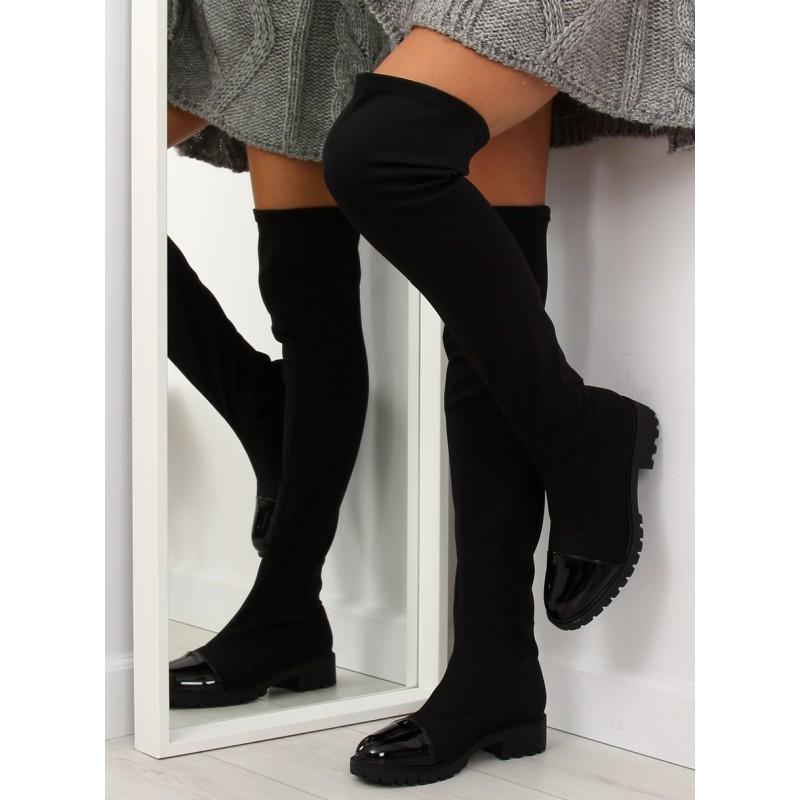 b6a6bf57727d8 Vysoké čižmy nad kolená čierne