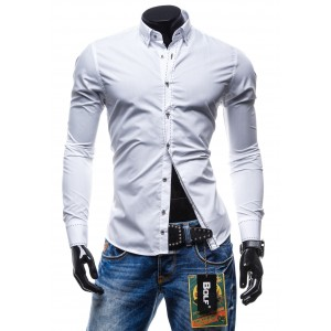Pánska košeľa slim fit s dlhým rukávom