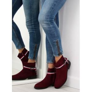 Topánky na jeseň dámske s prackou bordové