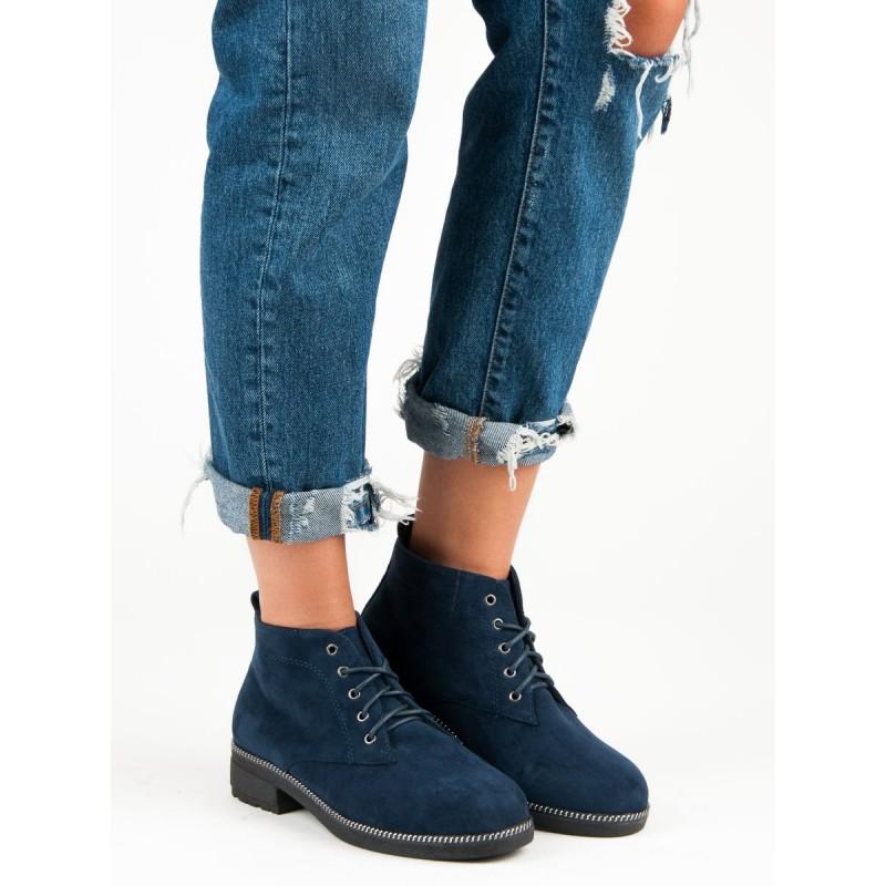 Členkové dámske topánky modré 2c227baac07