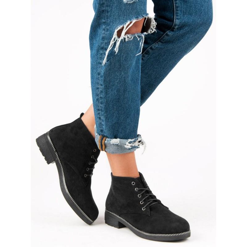 ea289499af Členkové dámske topánky čierne