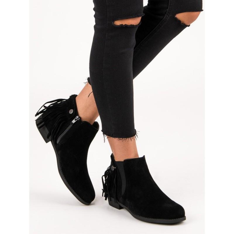 d998a126ed148 Členkové topánky s odnímateľnými strapcami