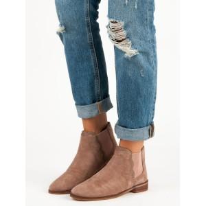 Členkové topánky hnedé