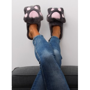 Teplé papuče sivé