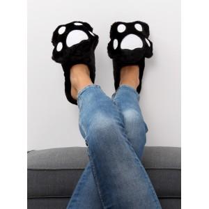 Papuče dámske čierne