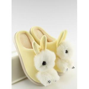 Dámske papuče zajačik žlté