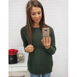 Pekné svetre v zelenej farbe s mašľou vzadu