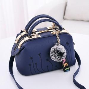 Crossbody kabelka dámska cez plece v modrej farbe