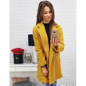 Moderné kabáty na zimu v žltej farbe